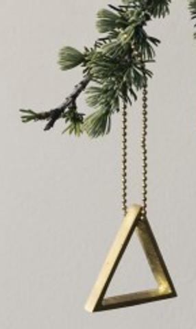 Bilde av Brass Triangle Ornament